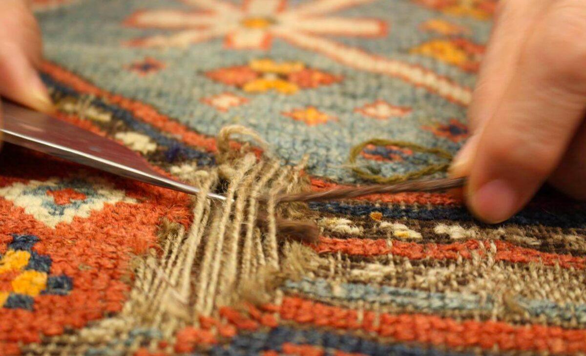 restauro tappeti palermo fibre