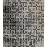 Tappeto moderno grey N° 134294 mis 230x160 Atelier d'Oriente Palermo