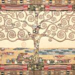 """Arazzo Albero della vita Klimt """"oro"""""""